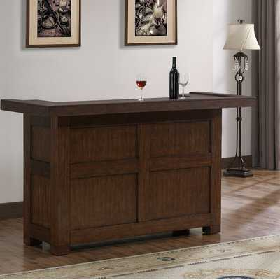 Greggory Bar with Wine Storage - Wayfair