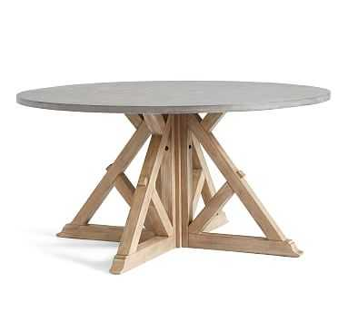 Brooks Round Dining Table, Seadrift - Pottery Barn