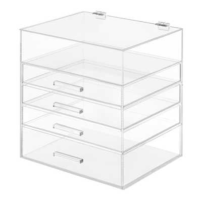 5 Tier Acrylic Cosmetic Storage Organizer in Clear - Home Depot