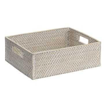 Modern Weave, Underbed Basket, Whitewash - West Elm