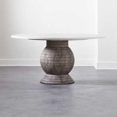Balance Round Pedestal Dining Table - CB2