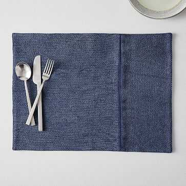 Cotton Canvas Placemat, Set of 2 , Midnight - West Elm