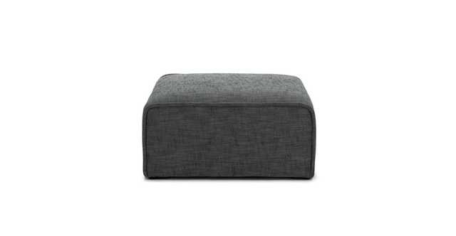 Quadra Carbon Gray Ottoman - Article
