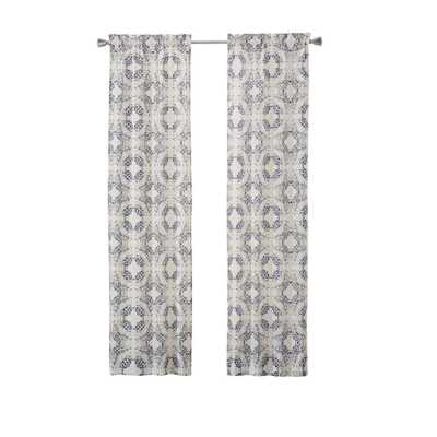 Pairs to Go Aldrich 2-Pack Window Curtain Panels in Indigo (Blue) - 56 in. W x 84 in. L - Home Depot