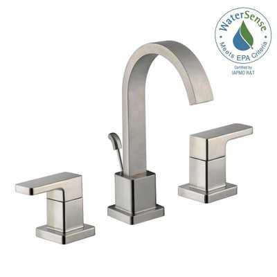Glacier Bay Marx 8 in. Widespread 2-Handle High-Arc Bathroom Faucet in Brushed Nickel - Home Depot