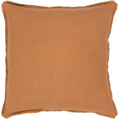 Zevgari Poly Euro Pillow, Burnt Orange - Home Depot