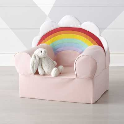 Large Rainbow Nod Chair Cover - Crate and Barrel