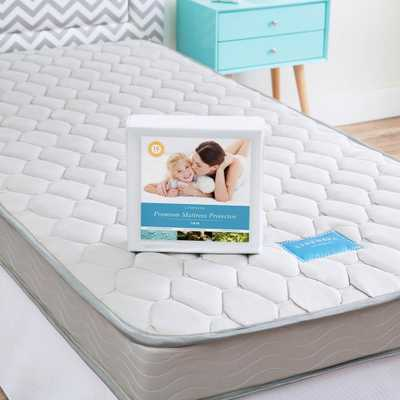 Linenspa Essentials 6 in. Twin Innerspring Mattress with Protector - Home Depot