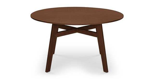Ventu Matte Walnut Round Dining Table - Article