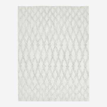 Hazy Lattice Rug, Ivory, 8'x10' - West Elm
