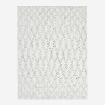 Hazy Lattice Rug, Ivory, 8'x10' - West Elm