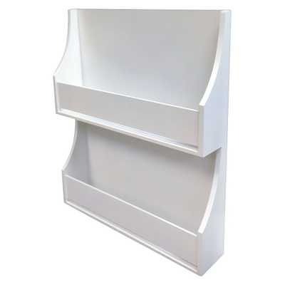 2-Tier White Book Shelf - Pillowfort, Campanula White - Target