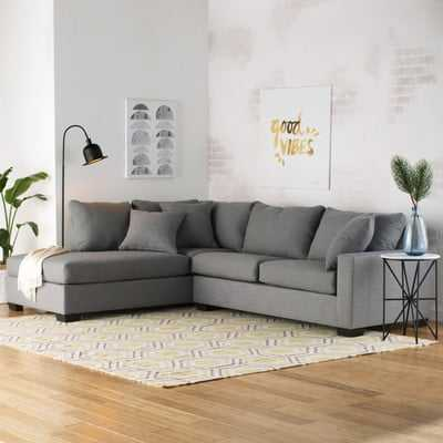 Loukianos Left Hand Facing Sectional // Charcoal - Wayfair