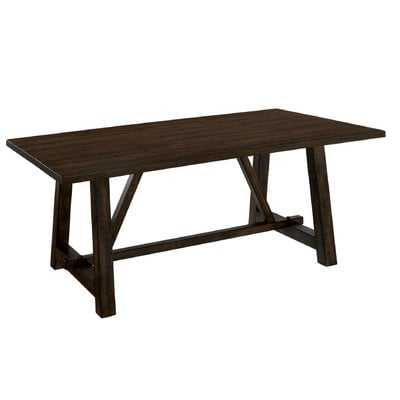 Stalbridge Transitional Solid Wood Dining Table - Wayfair