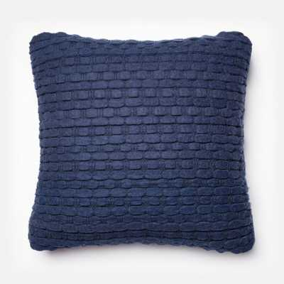"PILLOWS - NAVY - 22"" X 22"" Cover Only - Loma Threads"