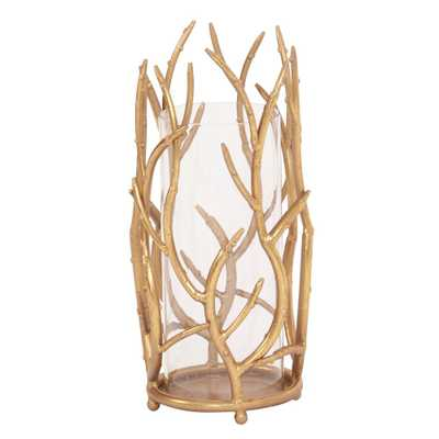 Gold Branches Hurricane Candle Holder Large - Home Depot