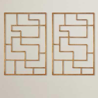 Quaid Gold Framed Wall Art - AllModern