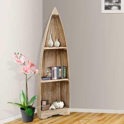 Renwick Small Boat Corner Unit Bookcase - Wayfair