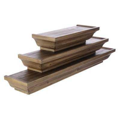 Runge Wood 3 Piece Floating Shelf Set - Wayfair
