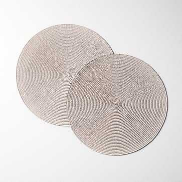 Round Woven Placemats, Set of 2, Metallic - West Elm