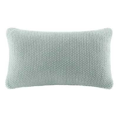 Elliott Knit Lumbar Pillow Cover - Birch Lane