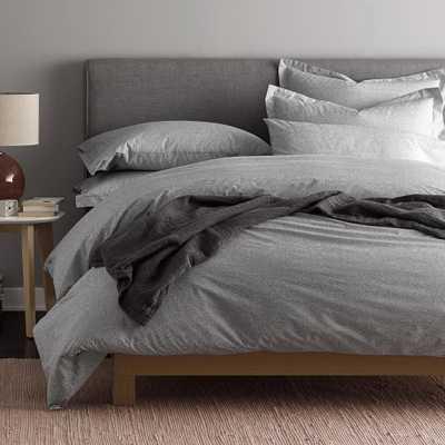 Lofthome Maze Organic Percale Gray Queen Duvet Cover - Home Depot