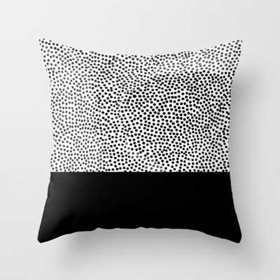 """Dots and Black Throw Pillow - Indoor Cover (16"""" x 16"""") with pillow insert by Georgianaparaschiv - Society6"""