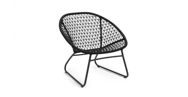 Bene Graphite Black Lounge Chair - Article