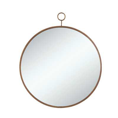Round Gold Wall Mirror - Wayfair