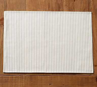 Wheaton Stripe Placemat, Set of 4 - Flax - Pottery Barn