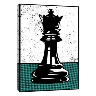 12.in x 10.in ''Chess Queen'' Printed Canvas Wall Art, Multicolored - Home Depot