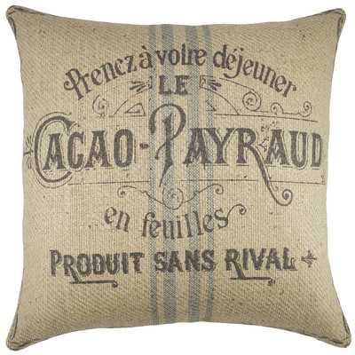 Kenora Cacao Payraud Burlap Throw Pillow - Wayfair