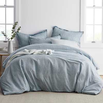 The Company Store Collins Blue Paisley Bamboo King Duvet Cover - Home Depot