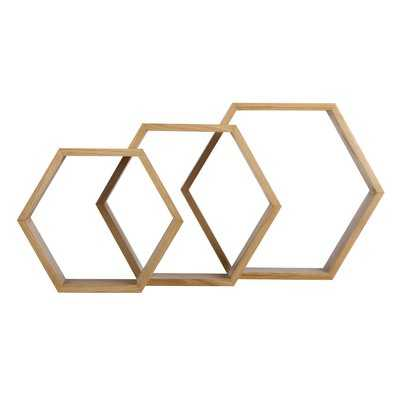 Aaliyah 3 Piece Wall Shelf Set - Wayfair