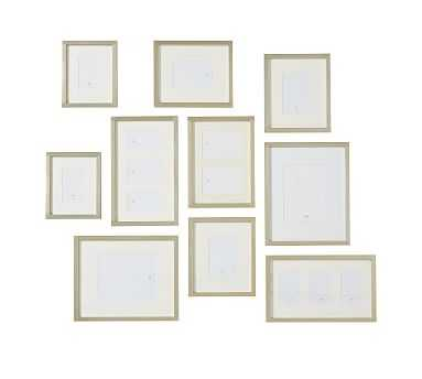Champagne Gilt Photo Frame Gallery in a Box, Set of 10 - Pottery Barn