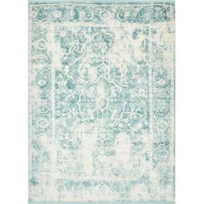 Sherrill Blue Floral Area Rug - Wayfair