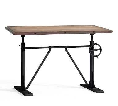 Pittsburgh Crank Standing Desk, Washed Pine - Pottery Barn