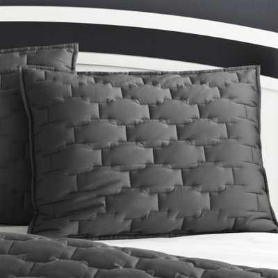 Palazzo Grey Standard Sham - Crate and Barrel