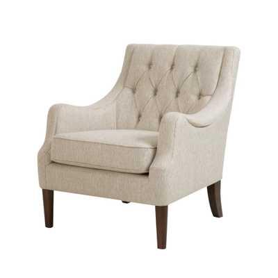 Cassie Button Tufted Chair - Cream - Target