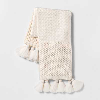 Chunky Knit Throw Blanket Cream (Ivory) - Opalhouse - Target