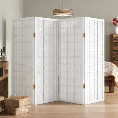Noan Window Pane Shoji 4 Panel Room Divider - Wayfair