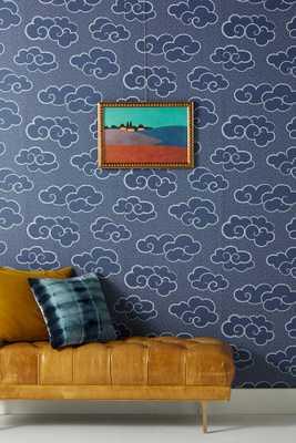 Navy Cloud Wallpaper - Anthropologie