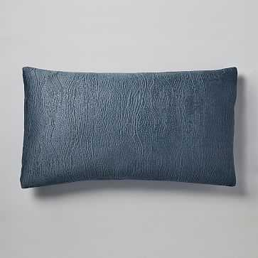 TENCEL Cotton Matelasse King Sham, Stormy Blue - West Elm