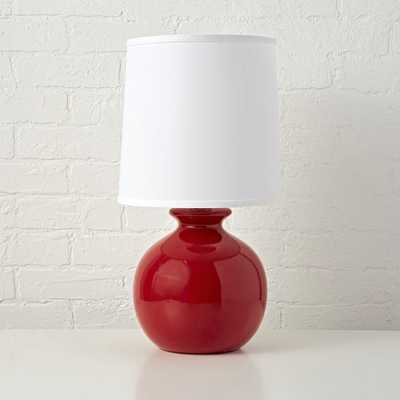 Gumball Red Table Lamp - Crate and Barrel