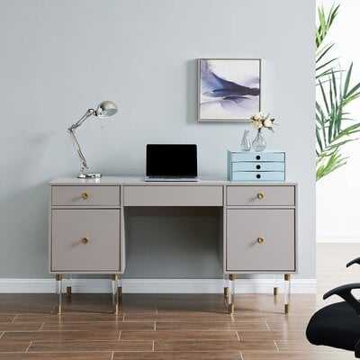 Mercer41 Meaney Gray Writing Desk - Wayfair