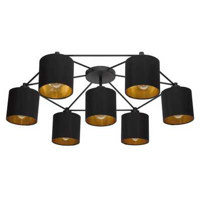 Eglo Staiti 7-Light Black Exterior and Gold Interior Shades Celling Light - Home Depot