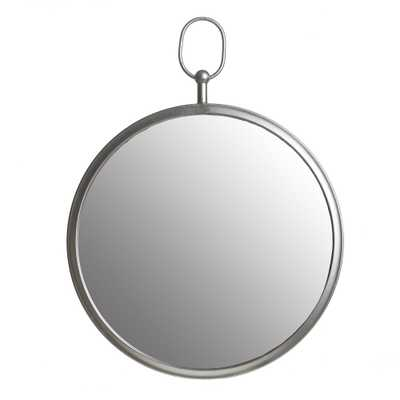"""18""""x24"""" Wall Mirror with Decorative Handle Silver - Patton Wall Decor - Target"""