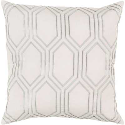 Avalon Ivory Geometric 18 in. x 18 in. Decorative Pillow, Whites - Home Depot