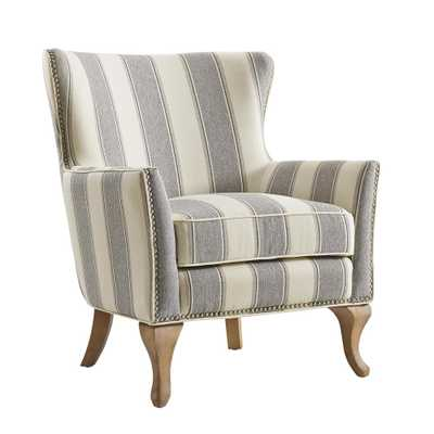 Dotty Gray Upholstered Accent Chair - Home Depot