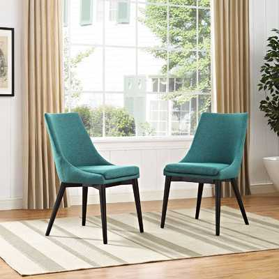 Carlton Wood Leg Upholstered Dining Chair - Wayfair